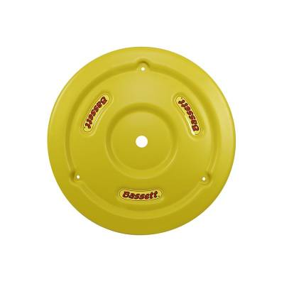 Bassett Wheel - Bassett 5PLG-YEL Yellow Plastic Wheel Cover (Mud Plug) IMCA USRA UMP