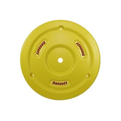 Bassett Wheel - Bassett 5PLG-YEL Yellow Plastic Wheel Cover (Mud Plug) IMCA USRA UMP