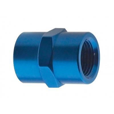 Fragola - Fragola 491001 1/8 FPT Female Pipe Coupler Blue Anodized Adapter IMCA USRA NHRA