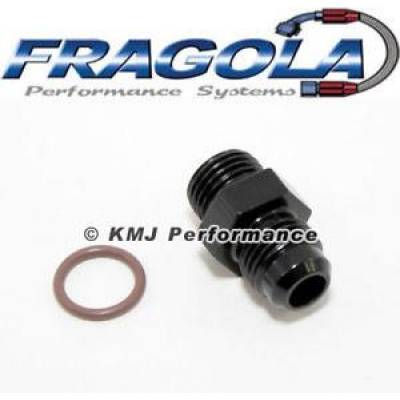 Fittings & Hoses - O-Ring Fittings - Fragola - -6 O-Ring Port To -8AN-Black