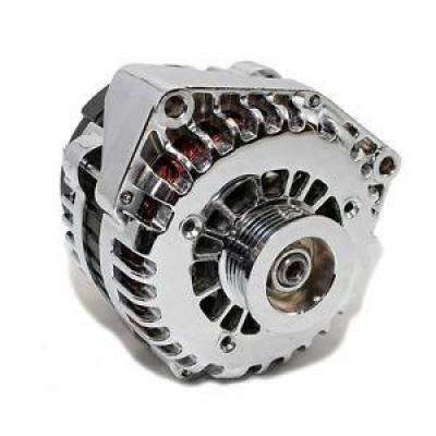 Starting & Charging - Alternators - KMJ Performance Parts - Chrome 180 AMP LS1 F Body or Truck Alternator 12V High Output CS130D Style GM