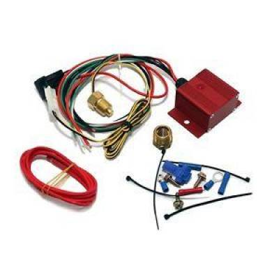 Cooling - Electric Fans & Components - KMJ Performance Parts - Red Adjustable Electric Cooling Fan Controller Wiring Harness Kit 150-240 Degree