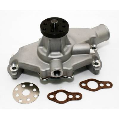 "Cooling - Water Pumps - KMJ Performance Parts - Small Block Chevy 350 High Volume Short Aluminum Water Pump Satin 5/8""; Pilot SBC"