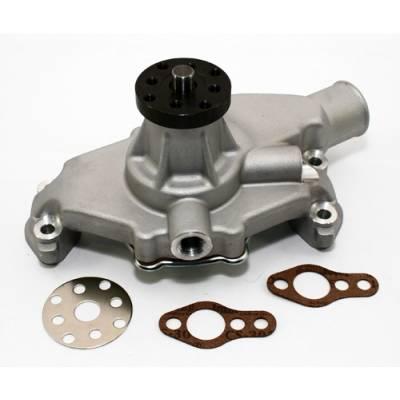 "Cooling - Water Pumps - KMJ Performance Parts - Small Block Chevy 350 High Volume Short Aluminum Water Pump Satin 5/8""; Pilot SBC"
