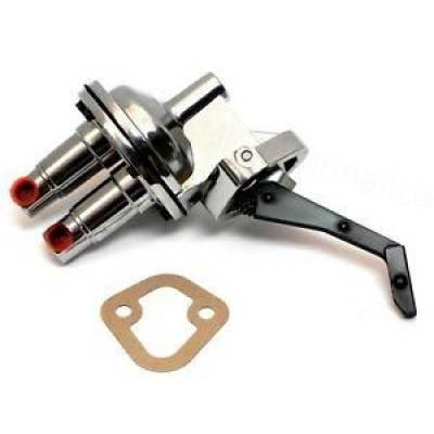 Fuel System & Components - Mechanical Fuel Pumps - KMJ Performance Parts - Mopar Dodge Plymouth 273 318 340 360 LA V8 Mechanical Chrome Fuel Pump 110GPH HV