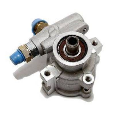 Steering - Power Steering Pumps & Accessories - KMJ Performance Parts - GM Type II Performance Aluminum Power Steering Pump Satin Natural Finish Chevy