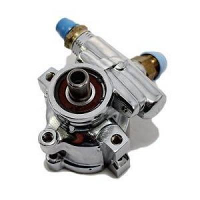Steering - Power Steering Pumps & Accessories - KMJ Performance Parts - GM Type II Performance Aluminum Power Steering Pump Chrome Finish Camaro Chevy