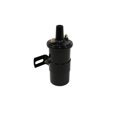 Ignition & Electrical - Ignition Coils - KMJ Performance Parts - Black 12V Round Oil Filled Canister Style Electronic Ignition Coil 45 000 Volts