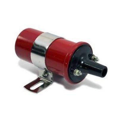 Ignition & Electrical - Ignition Coils - KMJ Performance Parts - Red 12V Round Oil Filled Canister Style Electronic Ignition Coil 45 000 Volts