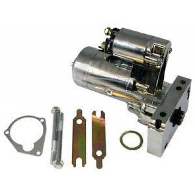 Ignition & Electrical - Starters - KMJ Performance Parts - Small & Big Block Chevy SBC BBC 305 350 454 Chrome 3hp High Torque Mini-Starter