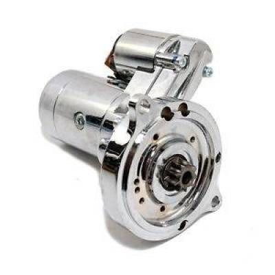 Ignition & Electrical - Starters - KMJ Performance Parts - Heavy Duty SBF BBF Ford Engines Chrome Starter 302 351W 351C 390 FE 429 460 3HP