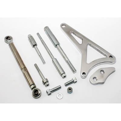 Alternators and Brackets - Brackets and Accessories  - KMJ Performance Parts - Small Block Ford Windsor 351W Polished Billet Aluminum Alternator Bracket