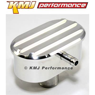 Valve Covers & Accessories - Valve Cover Accessories - KMJ Performance Parts - Universal Retro Finned Push In Valve Cover PCV Valve Polished Billet Aluminum