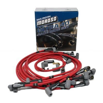 Moroso 73685 Ultra 40 Spark Plug Wires SBC Chevy 327 350 383 400 Non-HEI Delco