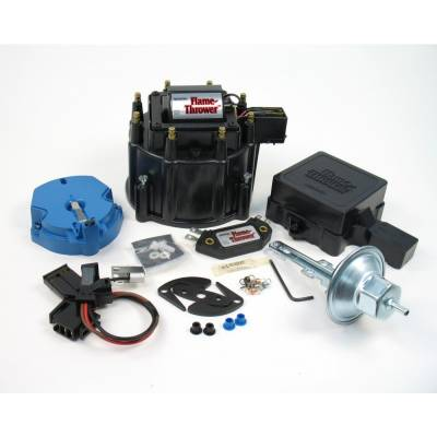 Distributors & Components - Distributor Cap & Rotor - Pertronix Performance Products - PerTronix D8000 Flame-Thrower Street/Strip HEI Kit Black Cap 50kV Coil Module