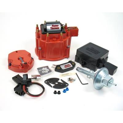 Distributors & Components - Distributor Cap & Rotor - Pertronix Performance Products - Pertronix D8001 Flame-Thrower HEI Street Strip Kit Red Cap w/ 50kv Coil Module