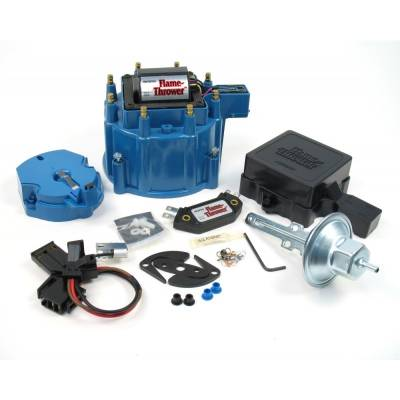 Distributors & Components - Distributor Cap & Rotor - Pertronix Performance Products - PerTronix D8002 Flame-Thrower Street/Strip HEI Upgrade Blue Cap 50KV Coil Module