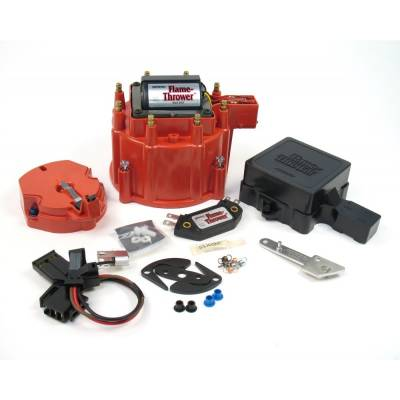 Distributors & Components - Distributor Cap & Rotor - Pertronix Performance Products - PerTronix D8071 Flame-Thrower HEI Upgrade Kit Red Cap 50KV Coil Module Race Only