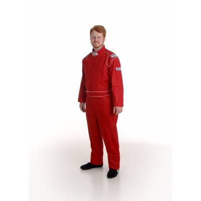 Safety & Seats - Driving Suits - Ultra Shield Race Products - Ultra Shield 30012 Red Small Single Layer 1pc Race Driving Fire Suit SFI 3.2A/1