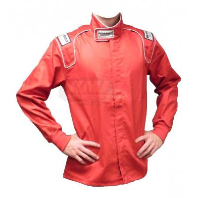 Safety & Seats - Driving Suits - Ultra Shield Race Products - Ultra Shield 30112 Red Small Single Layer Driving Race Fire Suit Jacket SFI 3.2A
