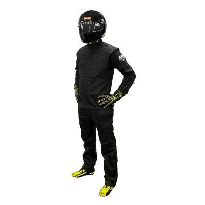 Velocita - Velocita DJ3 Small Black Double Layer Pro Logo Fire Suit Jacket SFI 3.2A/1 Rated
