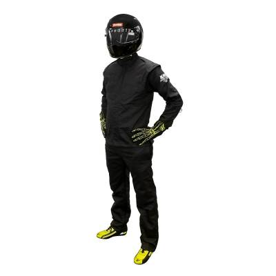 Driving Suits - Velocita Race Suits - Velocita - Velocita DJ5 Large Black Double Layer Pro Logo Fire Suit Jacket SFI 3.2A/1 Rated