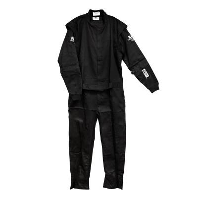 Driving Suits - Velocita Race Suits - Velocita - Velocita SS7 2X-Large Black 1pc VR1 Single Layer SFI 3.2a/1 Rated Logo Fire Suit