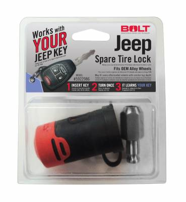 SUV Accessories - Bolt - BOLT SPARE TIRE LOCK (JEEP) 5922986