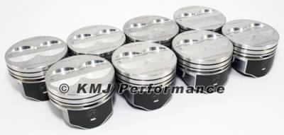 Federal Mogul - Speed Pro FMP H345DCP30 Small Block Chevy Flat Top Coated Pistons .030 Bore 5.7""
