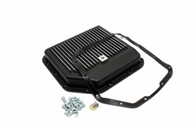 Transmission & Drivetrain - Transmission Oil Pan & Components - Assault Racing Products - GM Chevy Turbo 350 Black Aluminum Transmission Pan Kit w/ Bolts Gasket TH350