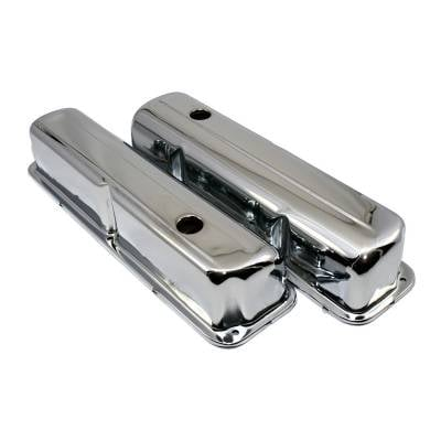 Valve Covers & Accessories - Street Valve Covers  - Assault Racing Products - 1957-1976 Ford FE Chrome Plated Valve Covers - 352 390 406 427 428 Big Block