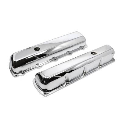 Valve Covers & Accessories - Street Valve Covers  - Assault Racing Products - 1964-1980 Oldsmobile 350 455 Chrome Steel Tall Valve Covers - 330 400 425 V8
