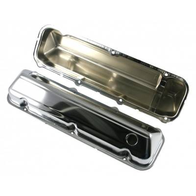 Valve Covers & Accessories - Street Valve Covers  - Assault Racing Products - 429 460 Big Block Ford Chrome Plated Steel Valve Covers 1968-1997 Car & Truck