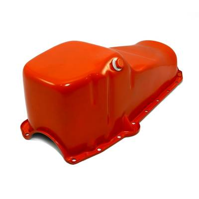Oil Pans - Street Oil Pans - Assault Racing Products - 58-79 SBC Chevy Orange Oil Pan - Stock Capacity 283 305 327 350 400 Small Block