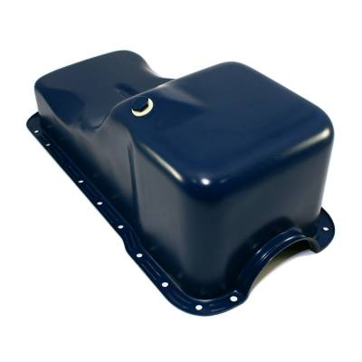 Oil Pans - Street Oil Pans - Assault Racing Products - 69-81 SBF Ford 351W Front Sump Blue Oil Pan - Stock Capacity Small Block