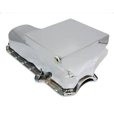 Oil Pans - Drag Racing Oil Pans - Assault Racing Products - 80-85 SBC Chevy Chrome Drag Race Style Oil Pan 7qt - 305 350 Small Block