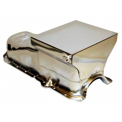 Oil Pans - Drag Racing Oil Pans - Assault Racing Products - 86-02 Chevy 305 350 Chrome 7qt Drag Style Oil Pan - 1 Pc Rear Main Seal SBC