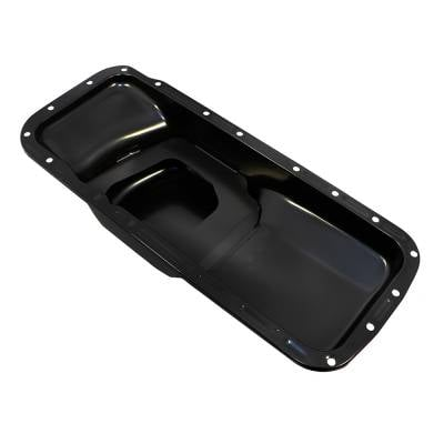 Oil Pans - Street Oil Pans - Assault Racing Products - Big Block Chrysler/Mopar Hemi Black Steel 383 400 413 426 440 B/RB Oil Pan BBM