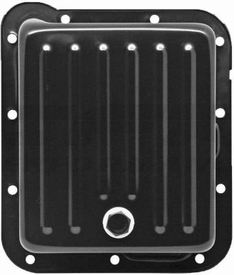 Transmission & Drivetrain - Transmission Oil Pan & Components - Assault Racing Products - Ford C4 Chrome Steel Transmission Pan Extra Capacity