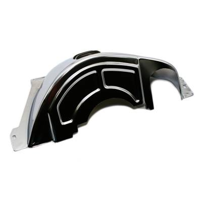 Transmissions, Rearends, & Gears  - Transmissions & Accessories - Assault Racing Products - GM Chevy 700R4 Chrome Transmission Flexplate Flywheel Cover Dust Shield