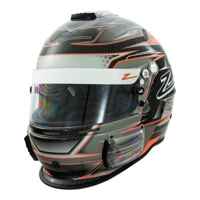 Zamp - Zamp RZ-44CE Orange Honeycomb Graphic Helmet