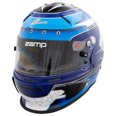Zamp - Zamp RZ-70E Switch Helmet - Blue/Light Blue Graphic