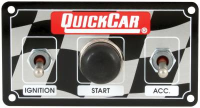 Gauges & Accessories - Igntion Switch Panels & Accessories - Quick Car - QuickCar 50-020 Micro Dirt Car Ignition Switch Panel Start Button Water Proof