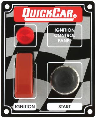 Gauges & Accessories - Igntion Switch Panels & Accessories - Quick Car - QuickCar 50-053 Ignition Control Panel Flip Switch w/ Light Starter Button
