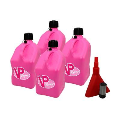 Tools, Shop & Pit Equipment - Fuel Jugs - VP Racing Fuels - VP Racing 4-Pack Square Fuel Jugs with Funnel and Filter