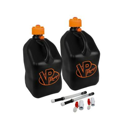 VP Racing Fuels - VP Fuel 2 Pack 5 Gallon Fuel Can w/ 2 Hoses and Ball Valves