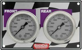 Gauges & Accessories - Gauge Panels - Quick Car - QuickCar 61-103 Horizontal Mini Brake Bias Gauge Panel 1500PSI Circle Oval Track