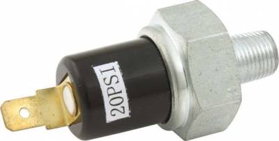 "Gauges & Accessories - Sending Units, Specialty Gauges & Kits - Quick Car - QuickCar 61-735 20 PSI Oil Pressure Switch Sending Unit 1/8"" NPT Male Thread"