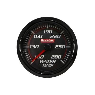 Gauges & Accessories - Water Temp & Pressure Gauges - Quick Car - QuickCar 63-006 Redline LED Lit Black Face Water Temperature Digital Gauge