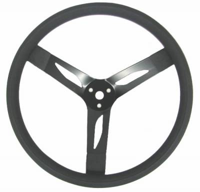 "Steering & Suspension - Quick Car - QuickCar 68-003 Dished 15"" Steel Steering Wheel - Black on Black"